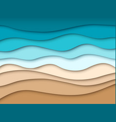 Paper sea beach abstract ocean summer travel vector