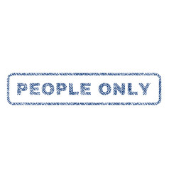 People only textile stamp vector