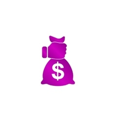 Pictograph of money in hand vector image