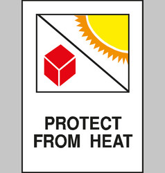Protect from heat sign vector