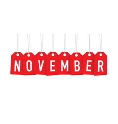 Red november tags vector