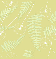 retro floral seamless background with dandelions vector image