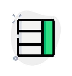 Right column bar box template design layout vector