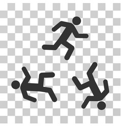 Running men icon vector