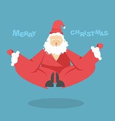 Santa Claus yoga Christmas yoga Santa Claus yogi vector image
