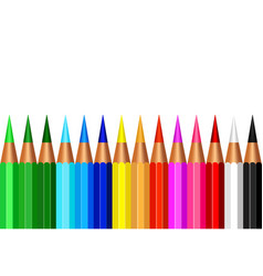 set colorful pencil color vector image