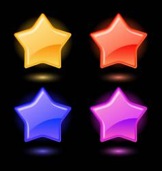 set of glossy stars vector image