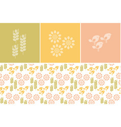 simple nature icons vector image