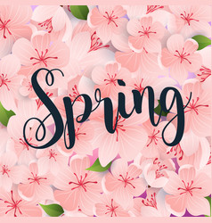 spring spring leafs on background flat design vector image