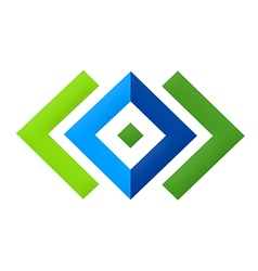 Square geometry construction logo vector
