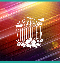 summer vacation and summertime traveling poster vector image