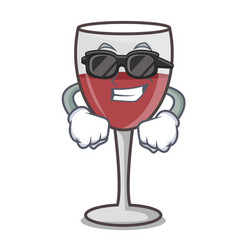 Super cool wine character cartoon style vector