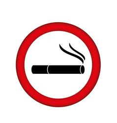 Symbol can smoking icon vector