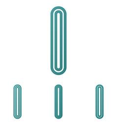 Teal line i logo design set vector