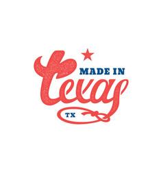 Texas lettering vector