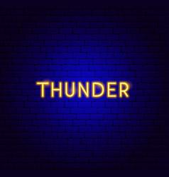 thunder neon text vector image
