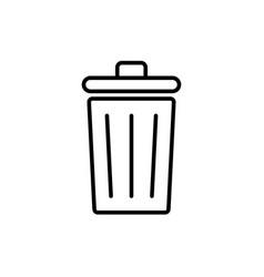 trash icon symbol simple design vector image