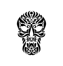 Tribal tatto skull vector image