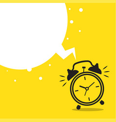 wake up flat icon with alarm clock vector image