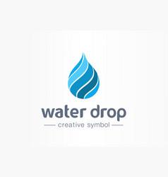 water drop aqua creative symbol concept clean vector image