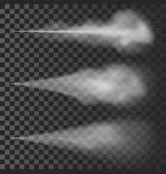 water spray white smoke vector image