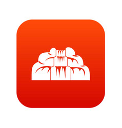 Waterfall icon digital red vector