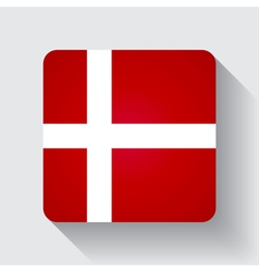 Web button with flag of Denmark vector