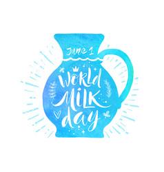World milk day vector