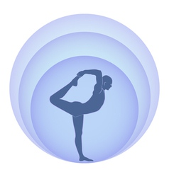 Yoga and aura vector