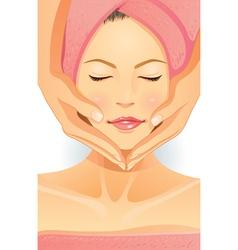 facial spa vector image vector image