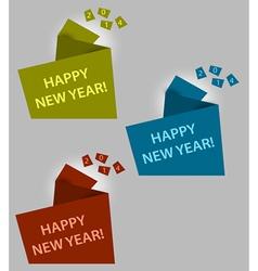 Happy new year creative box vector image