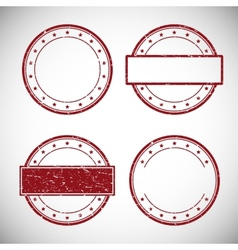 Set of red grunge rubber stamp vector image vector image