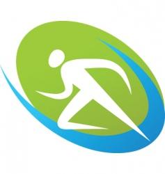sport silhouette series runner vector image