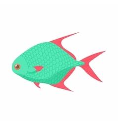 Tropical fish icon cartoon style vector image