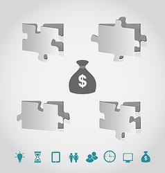 Cut paper puzzles with infographic elements vector image vector image
