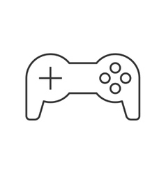Joystick thin line icon vector image