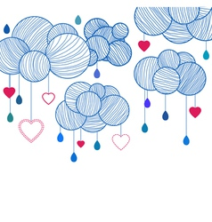 love clouds vector image vector image
