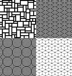 Seamless patterns Set 1 Abstract geometric vector image