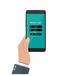 Sign in account on phone vector image