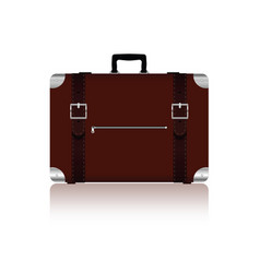 travel bag with belts in brown color four variant vector image vector image