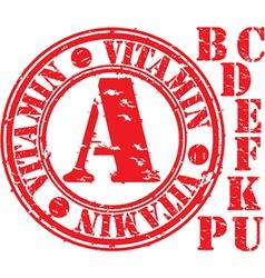 Vitamins Stamp vector image