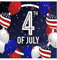 4th of july celebration background design vector image vector image