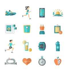Jogging Icons Flat vector image vector image