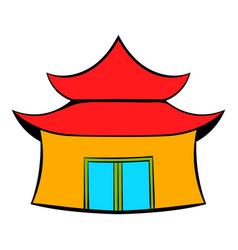 pagoda icon cartoon vector image