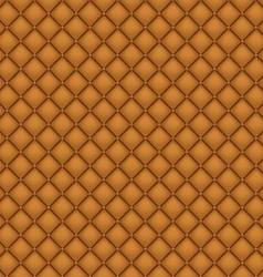 Seamless Brown Leather Upholstery vector image vector image
