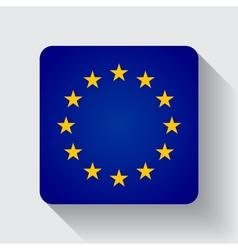 Web button with flag of the EU vector image vector image