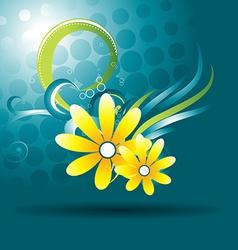 beautiful flower vector image vector image