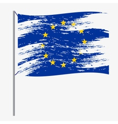 color european union flag grunge style eps10 vector image vector image