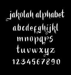 jakolah alphabet typography vector image