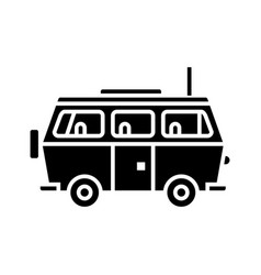 minivan travel - family car icon vector image vector image